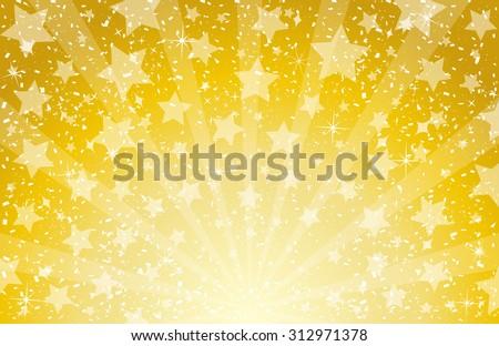 star and confetti background