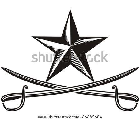 star and cross swords