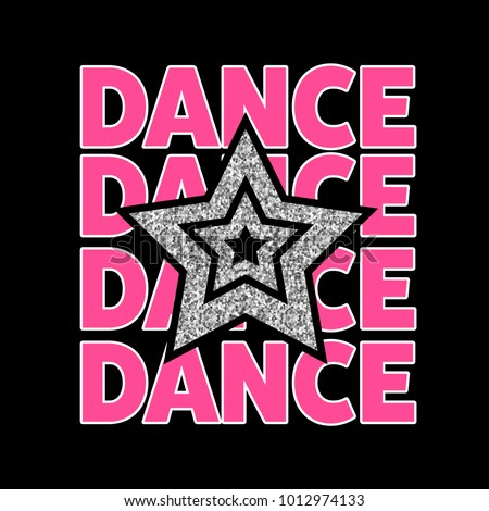 star and dance graphic tee