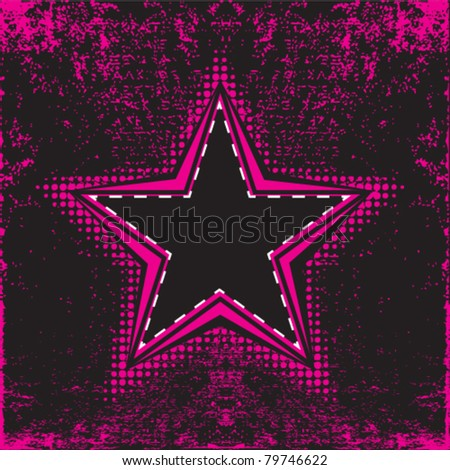 star background retro style on highly detailed grunge background