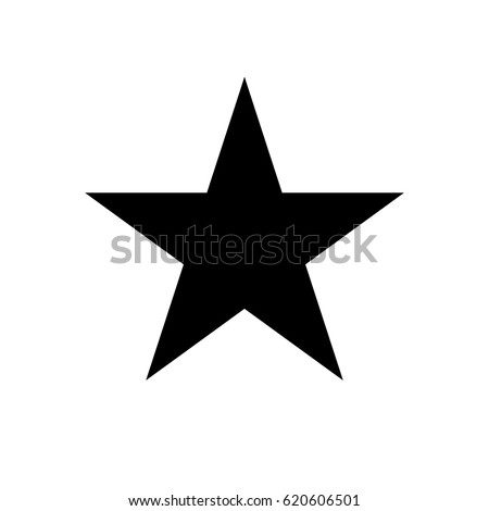 star black icon vector