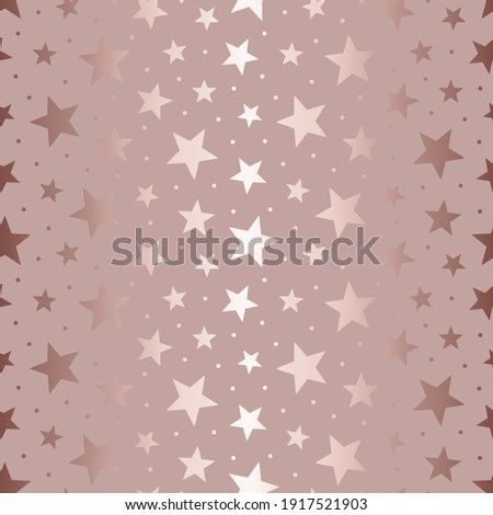 Star bling seamless pattern. Beauty background with scatter stars. Marble glitter. Repeated glam texture foil. Repeating elegant random star design for wallpapers, gift wrappers, prints. Vector
