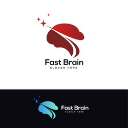 star brain logo designs template, head brain logo designs
