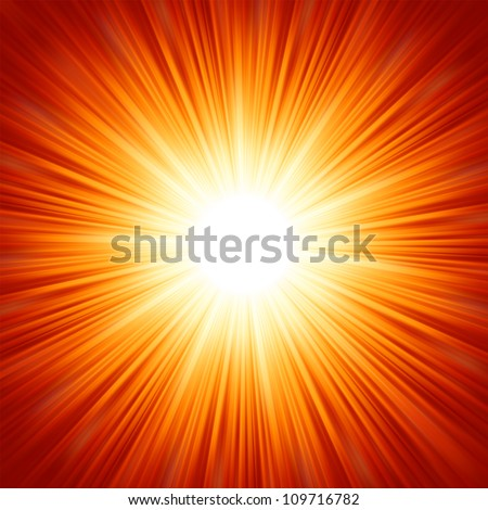 Star burst red and yellow fire. EPS 8 vector file included - stock vector