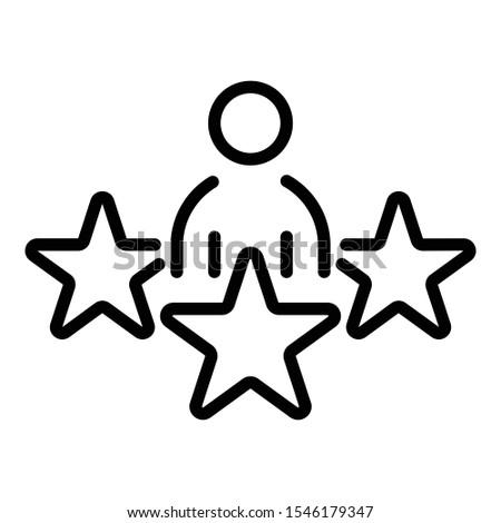 star celebrity icon outline