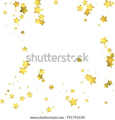 star confetti gold random confetti background bright design template vector white and yellow
