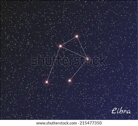 Постер, плакат: star constellation of libra, холст на подрамнике
