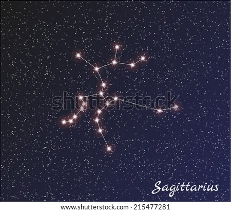 Постер, плакат: star constellation of sagittarius, холст на подрамнике