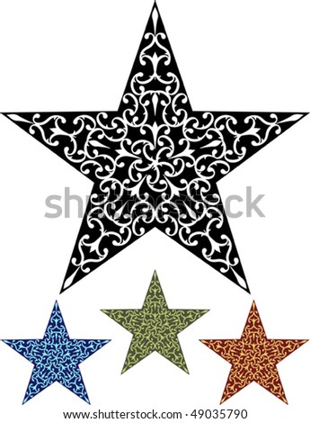 stock vector Star Design Tattoo