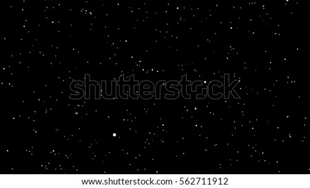 star dust particles on black