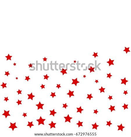 star falling confetti print
