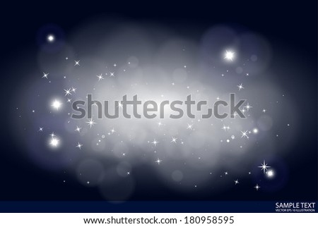 star field vector black