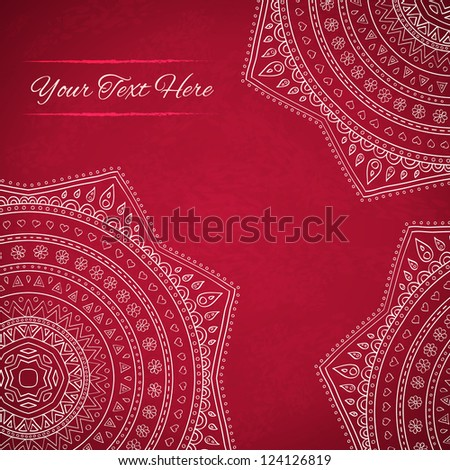 Star floral background with place for your text