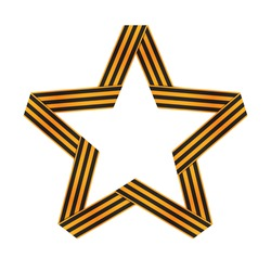 Star from St.George ribbon. Vector Illustration. EPS10