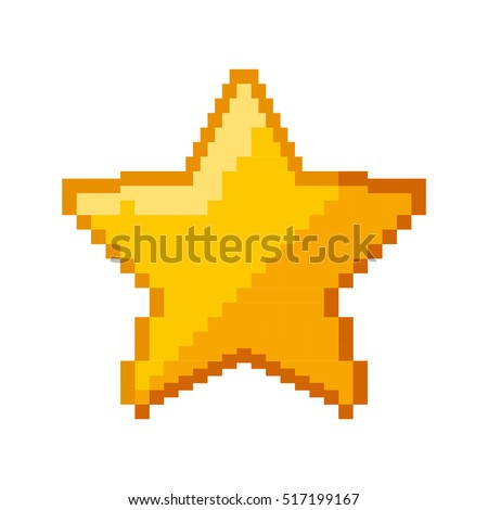 star game pixelated icon vector illustration design