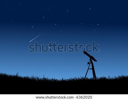 Star Gazing with Falling star