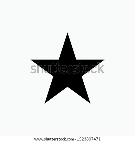 Star Geometric Basic Shape Icon - Vector, Sign and Symbol for Design, Presentation, Website or Apps Elements.