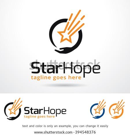Star Hope Logo Template Design Vector