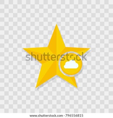 Star icon, cloud icon sign vector symbol