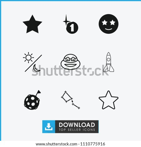 star icon collection of 9 star