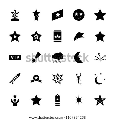 star icon collection of 25