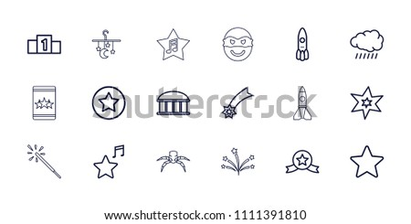 star icon collection of 18