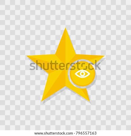 Star icon, eye icon sign vector symbol