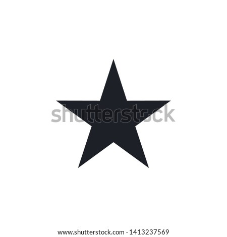 Star icon. Flat icon star symbol Vector Logo Template