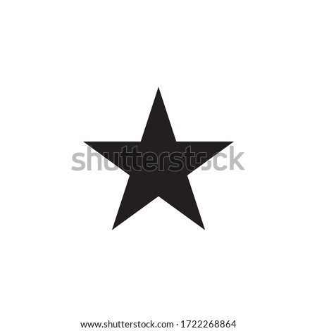 star icon glyph style design  Foto stock ©