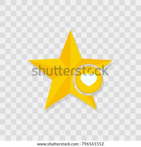 Star icon, heart icon sign vector symbol