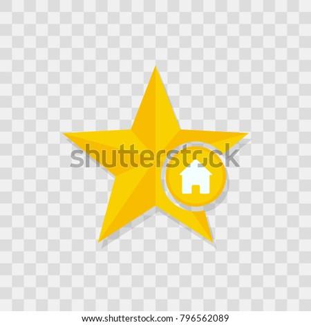 Star icon, home icon sign vector symbol