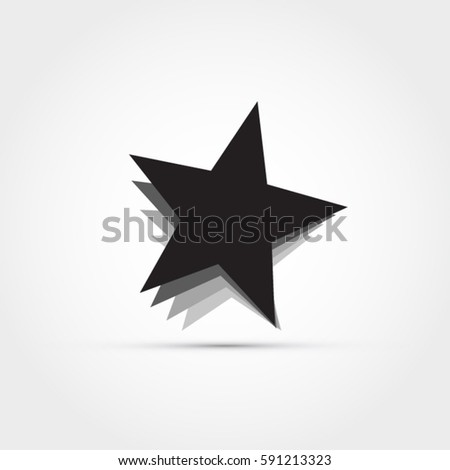 star icon  illustration with