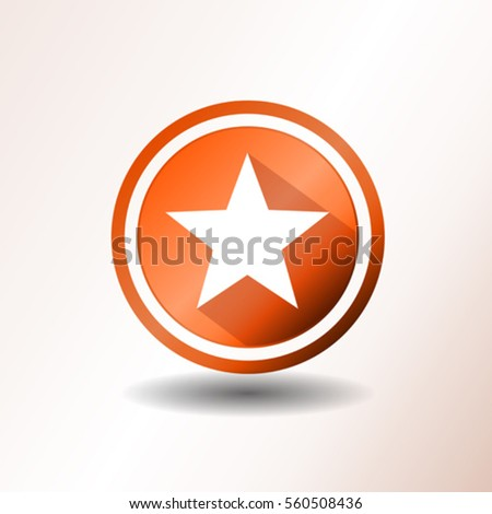 Star Icon In Flat Design Illustration of a flat design star icon or button