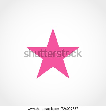 star icon isolated on white
