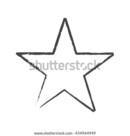 star icon isolated star grunge