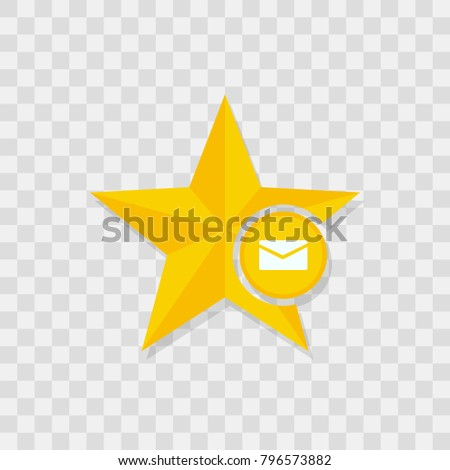 Star icon, mail icon sign vector symbol