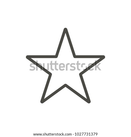 Star icon. Outline rank vector. Line sparkle symbol. Trendy flat ui sign design. Thin linear graphic pictogram for web site, mobile application. Logo illustration.