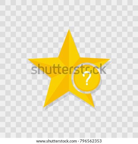 Star icon, question icon sign vector symbol