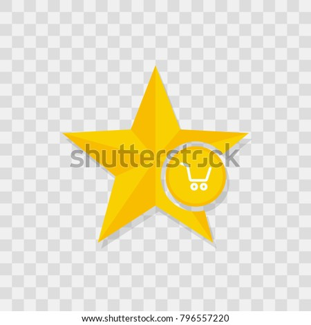 Star icon, shopping cart icon sign vector symbol