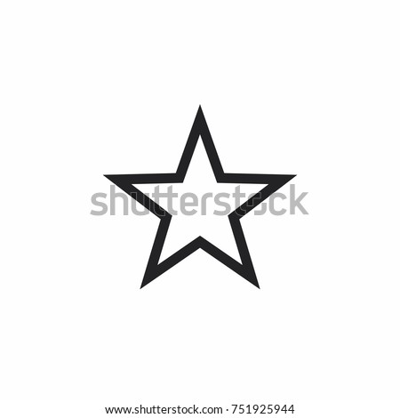 Star icon stock vector illustration flat design