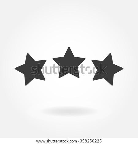 Star Icon. Three Stars flat icon. Vector stars illustration.