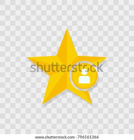 Star icon, user icon sign vector symbol