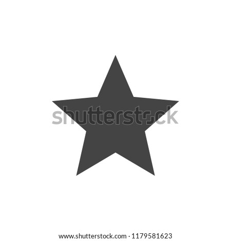 Star icon vector. Classic rank isolated. Trendy flat design. Star web site pictogram, mobile app. Logo illustration.Eps10