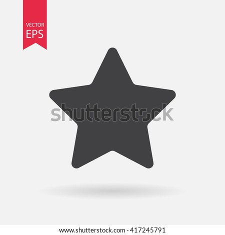 Star icon vector, Favorite, Best Rating, Award symbol isolated on white background. Trendy Flat style for graphic design, Web site, UI. EPS10