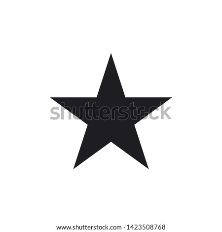star icon vector flat design