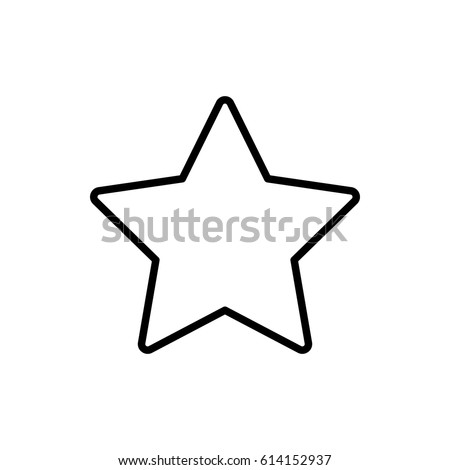 Star icon vector illustration. Linear symbol with thin outline. The thickness is edited. Minimalist style. Exclusive quality of execution in material design. Line thickness 20 px