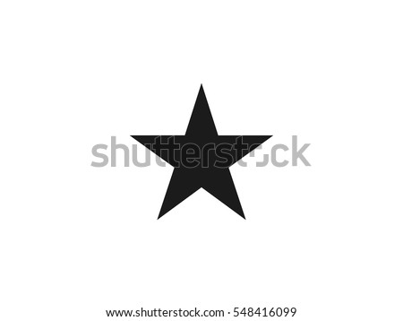 Star icon vector illustration on white background