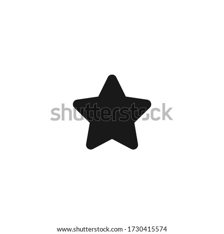 star icon vector on a white background