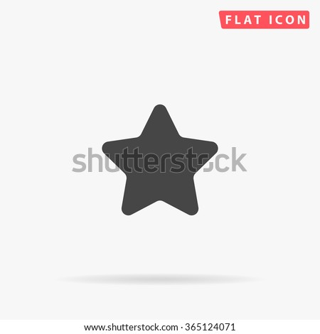 Star Icon vector. Simple flat symbol. Perfect Black pictogram illustration on white background.