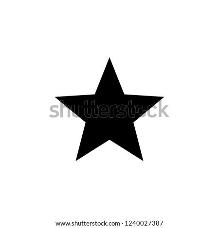 Star Icon vector. Star vector icon. Star Icon in trendy flat style isolated on white background. Rating symbol for web design